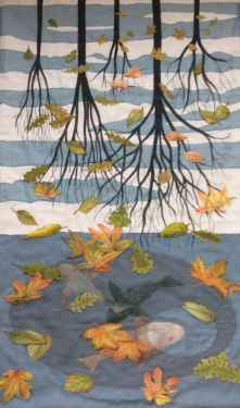 A Tribute to Three Worlds Art Quilt by Karen Lane